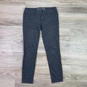 {AEO} Gray Skinny Jegging Pants Sz 6
